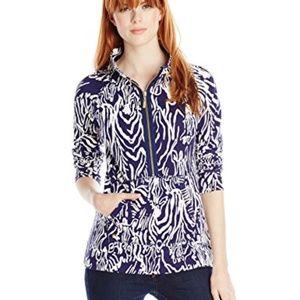 Lilly Pulitzer Skipper Half-Zip Zebra Sweatshirt M